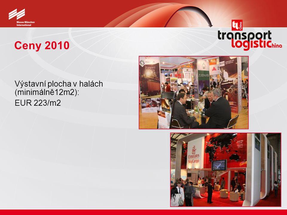 Ceny 2010 Výstavní plocha v halách (minimálně12m2): EUR 223/m2