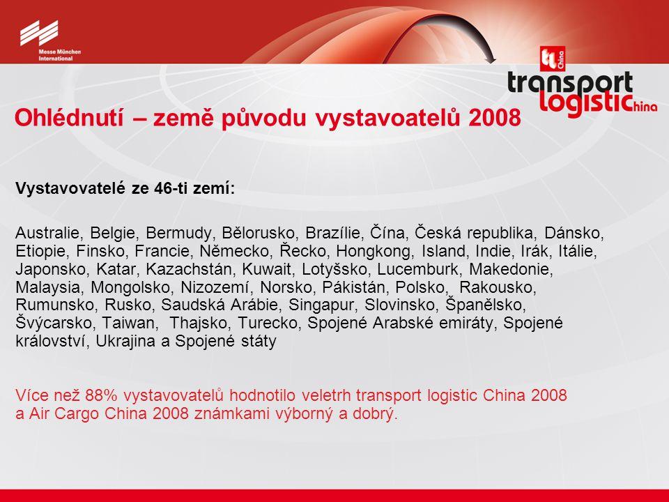 Ohlédnutí – země původu vystavoatelů 2008 Vystavovatelé ze 46-ti zemí: Australie, Belgie, Bermudy, Bělorusko, Brazílie, Čína, Česká republika, Dánsko,