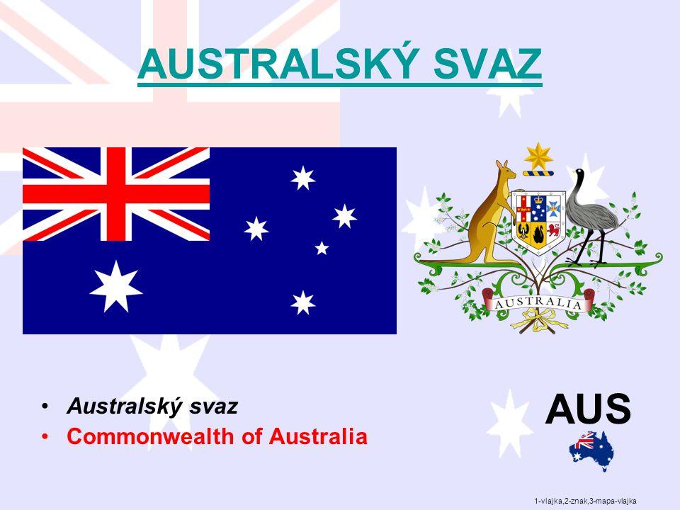 AUSTRALSKÝ SVAZ Australský svaz Commonwealth of Australia AUS 1-vlajka,2-znak,3-mapa-vlajka