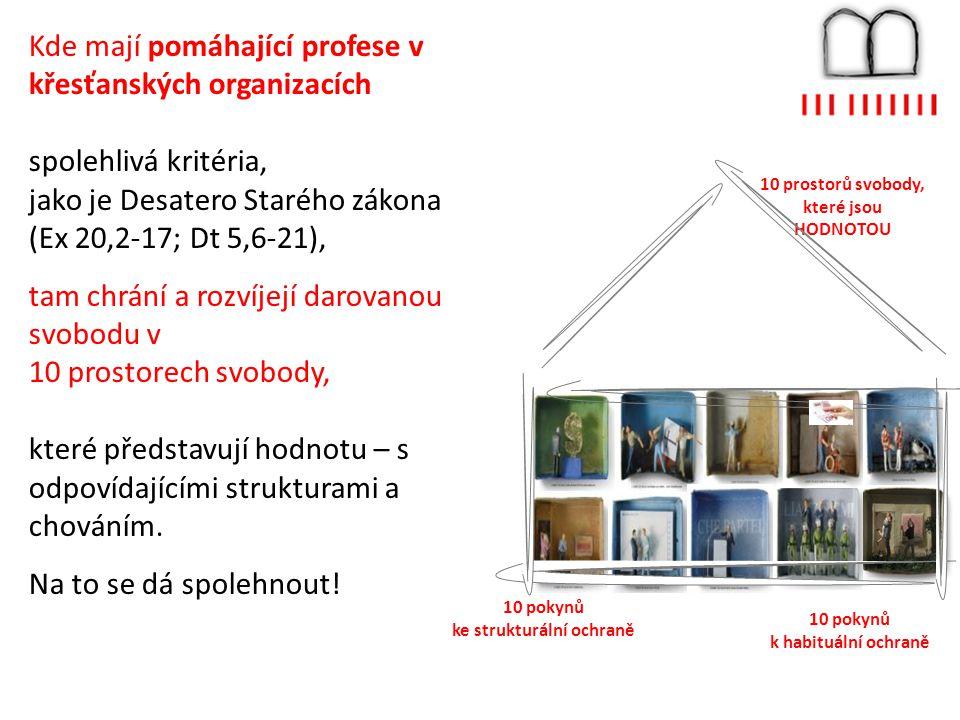 10 prostorů svobody, které jsou HODNOTOU 10 pokynů ke strukturální ochraně 10 pokynů k habituální ochraně Kde mají pomáhající profese v křesťanských o