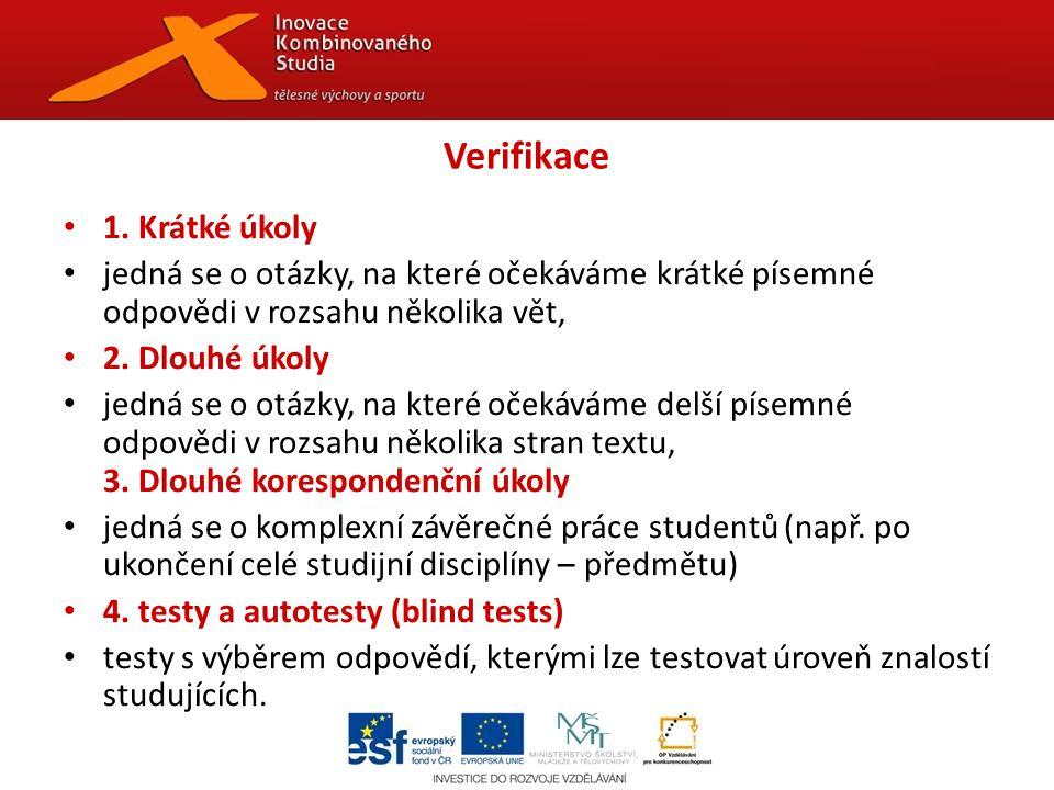 Verifikace 1.