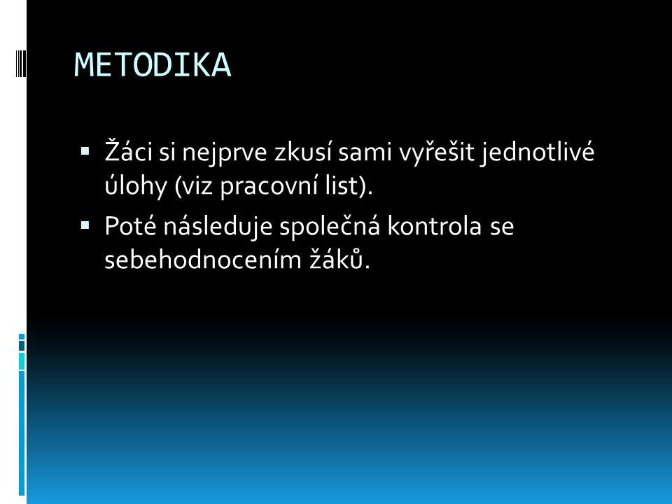 POUŽITÉ ZDROJE  http://www.msmt.cz/file/16600 - Standardy pro základní vzdělávání: Český jazyk a literatura (citováno dne 11.3. 2012). http://www.msm