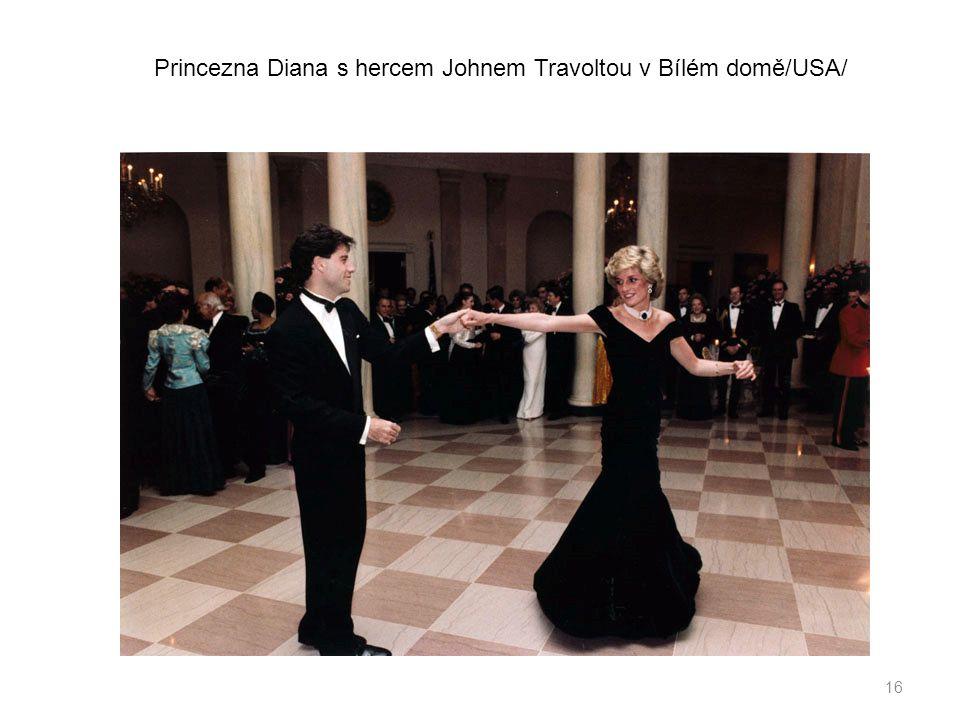 16 Princezna Diana s hercem Johnem Travoltou v Bílém domě/USA/