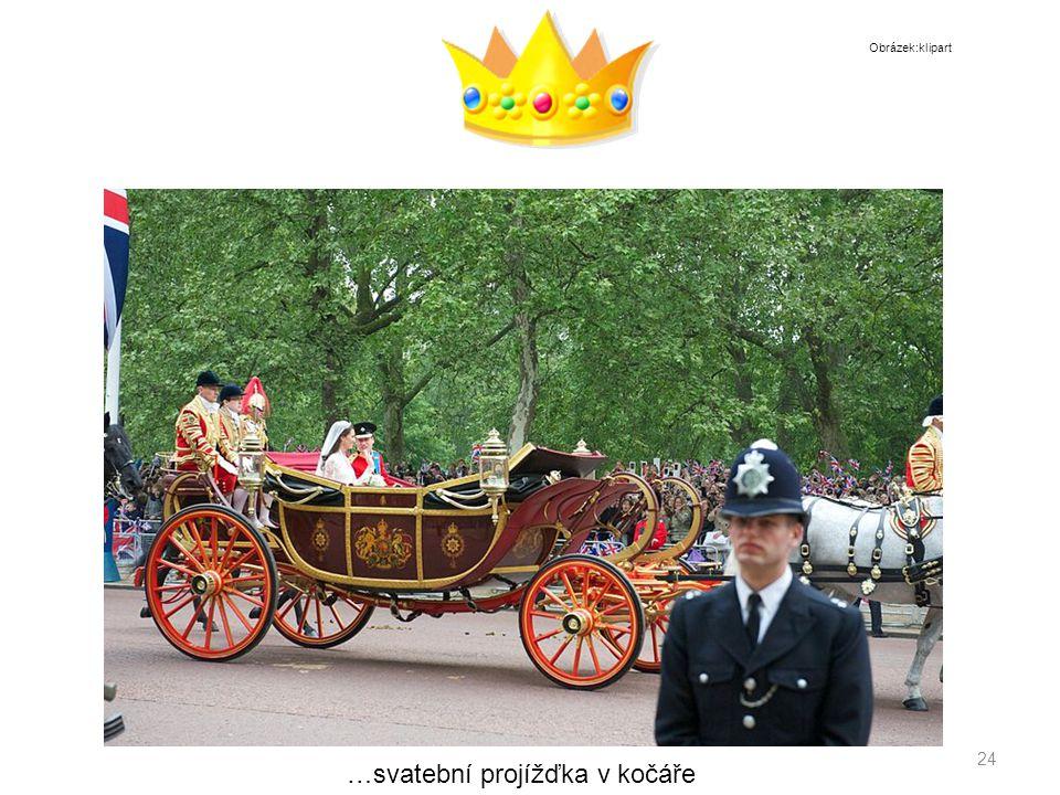 24 …svatební projížďka v kočáře Obrázek:klipart