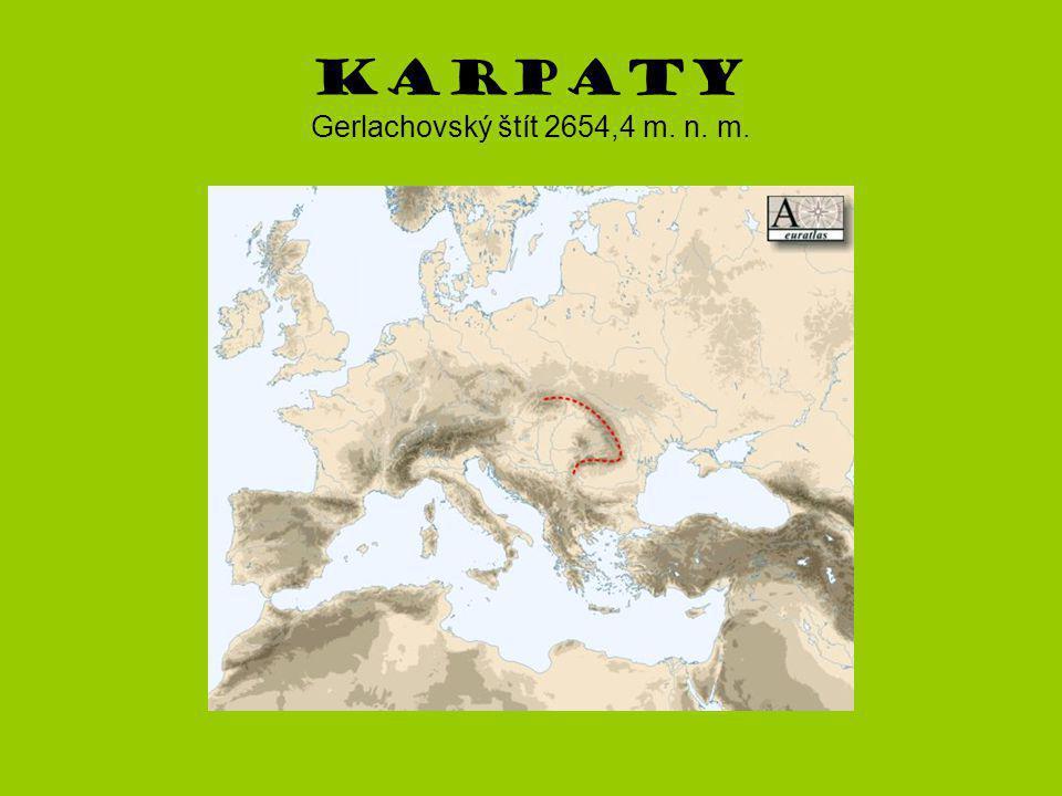 Karpaty Gerlachovský štít 2654,4 m. n. m.