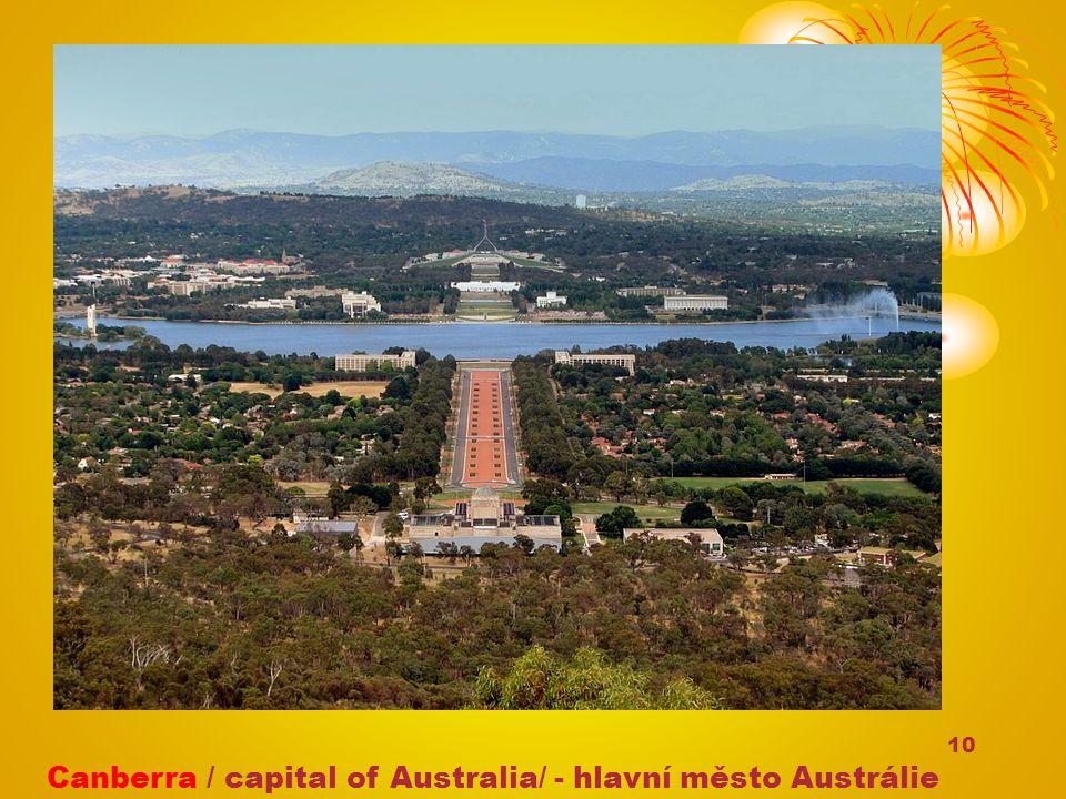 10 Canberra / capital of Australia/ - hlavní město Austrálie