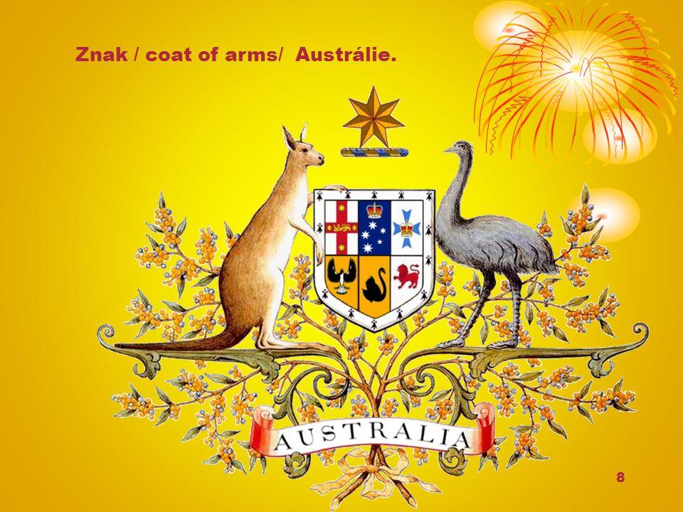 8 Znak / coat of arms/ Austrálie.