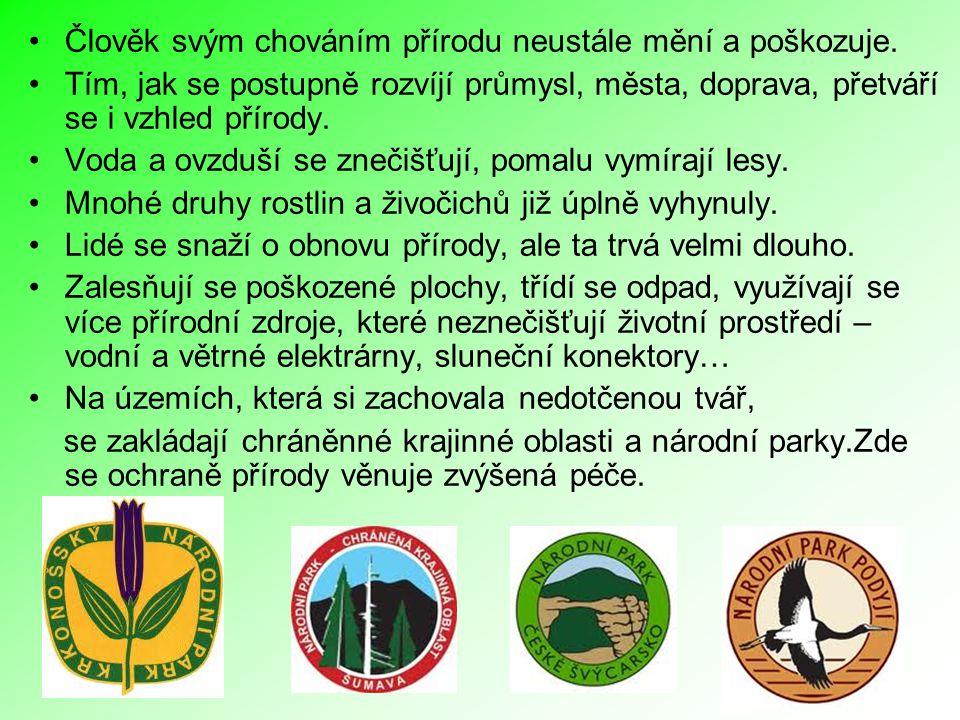 Krkonošský národní park Rok vyhlášení – 1963 (1991) Rozloha - 36 200 ha Nejvyšší horstvo ČR Vzhledem k znečišťování ovzduší z blízkých tepelných elektráren patří mezi 10 nejohroženějších NP světa.
