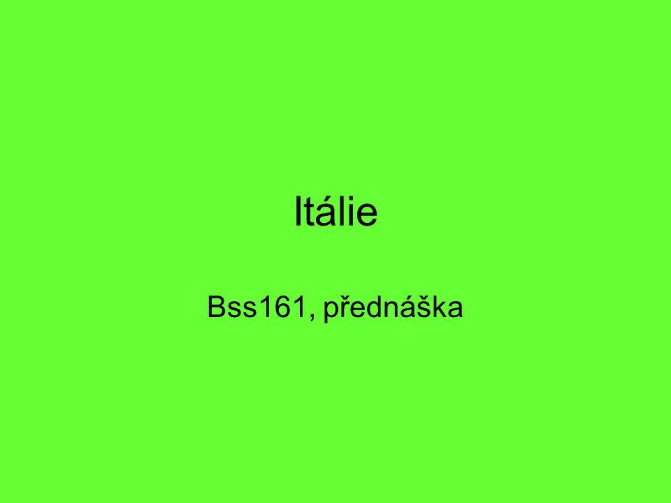 Itálie Bss161, přednáška