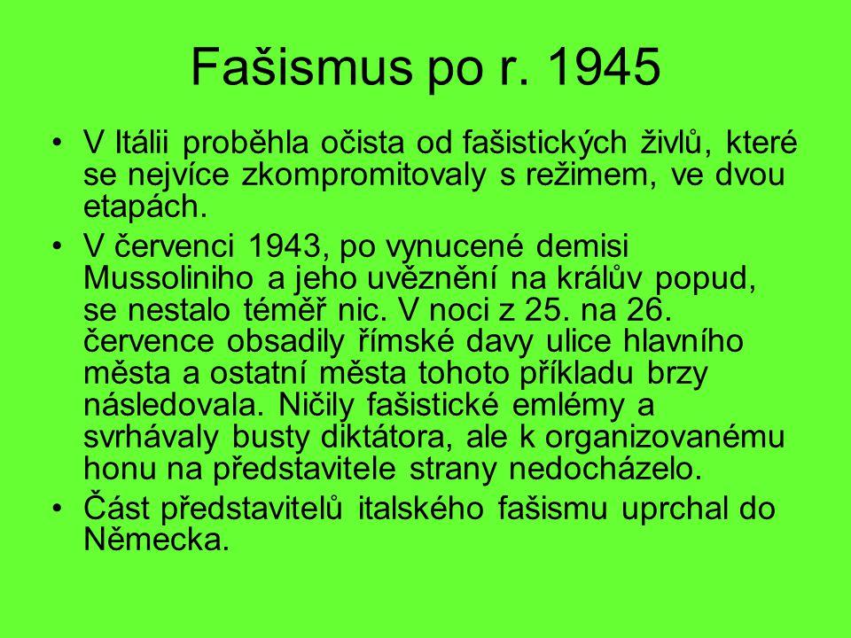 Fašismus po r.