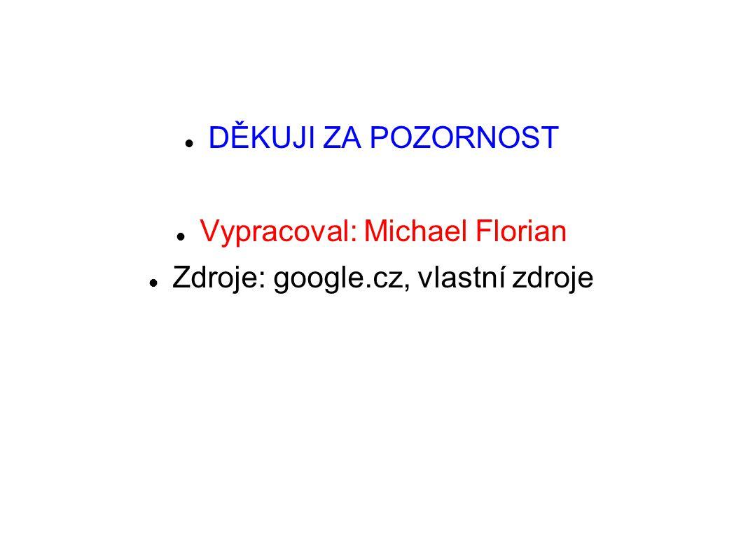 DĚKUJI ZA POZORNOST Vypracoval: Michael Florian Zdroje: google.cz, vlastní zdroje