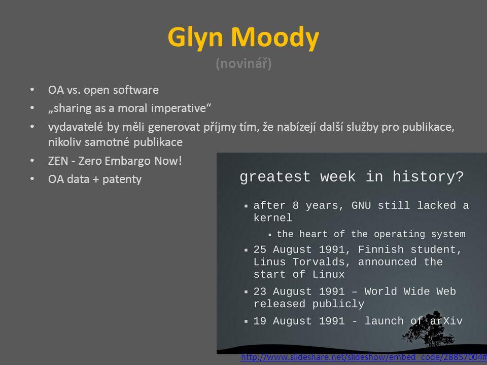 Glyn Moody (novinář) OA vs.