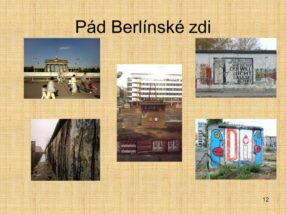12 Pád Berlínské zdi