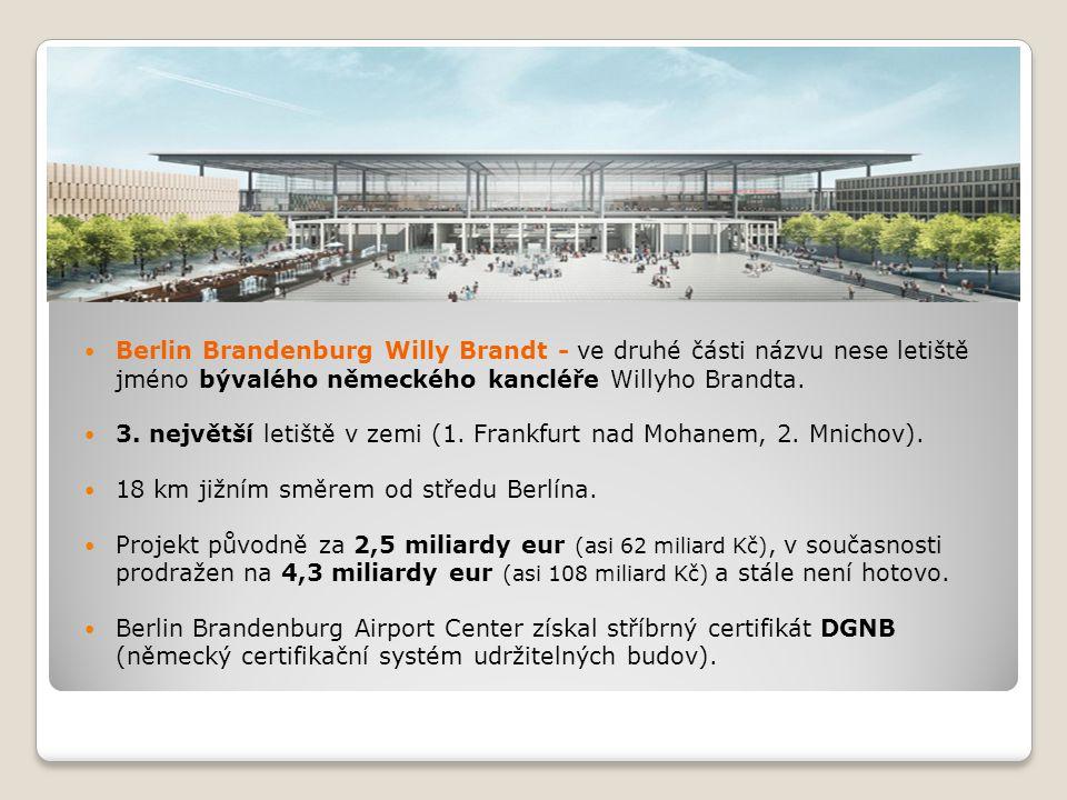Berlin Brandenburg Willy Brandt - ve druhé části názvu nese letiště jméno bývalého německého kancléře Willyho Brandta.