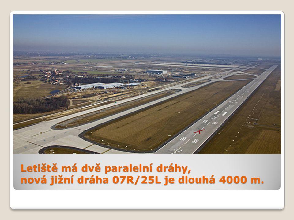 Letiště má dvě paralelní dráhy, nová jižní dráha 07R/25L je dlouhá 4000 m.