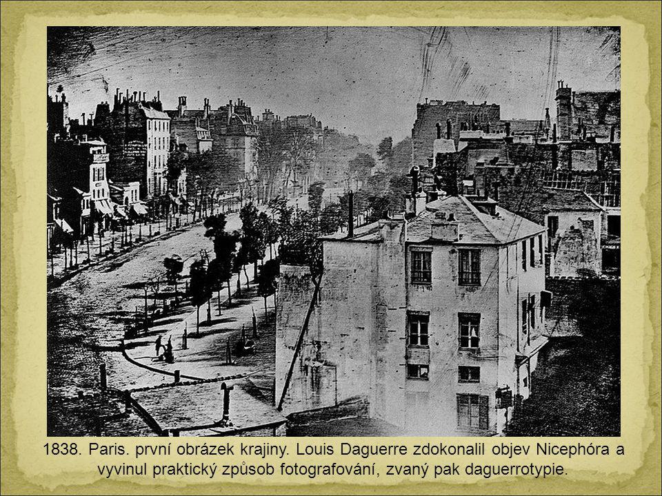 1838.Paris. první obrázek krajiny.