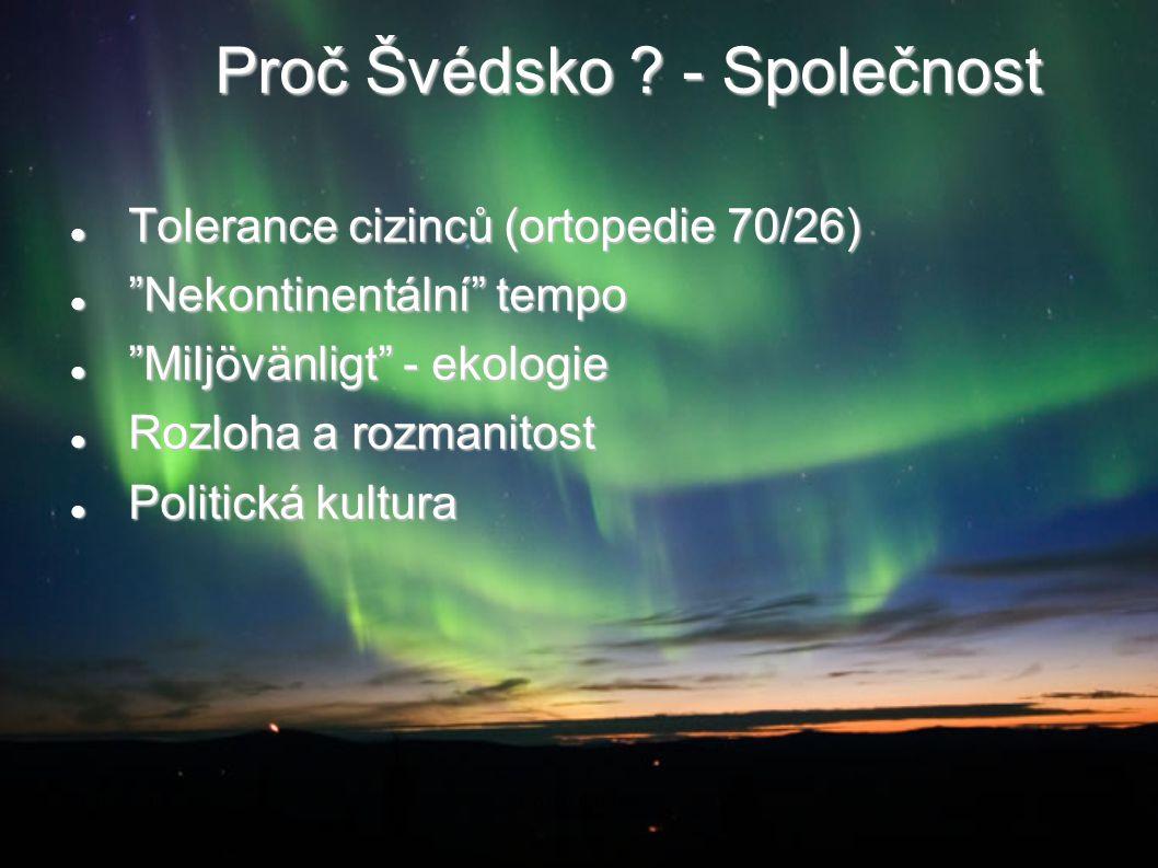 """Proč Švédsko ? - Společnost Tolerance cizinců (ortopedie 70/26) Tolerance cizinců (ortopedie 70/26) """"Nekontinentální"""" tempo """"Nekontinentální"""" tempo """"M"""