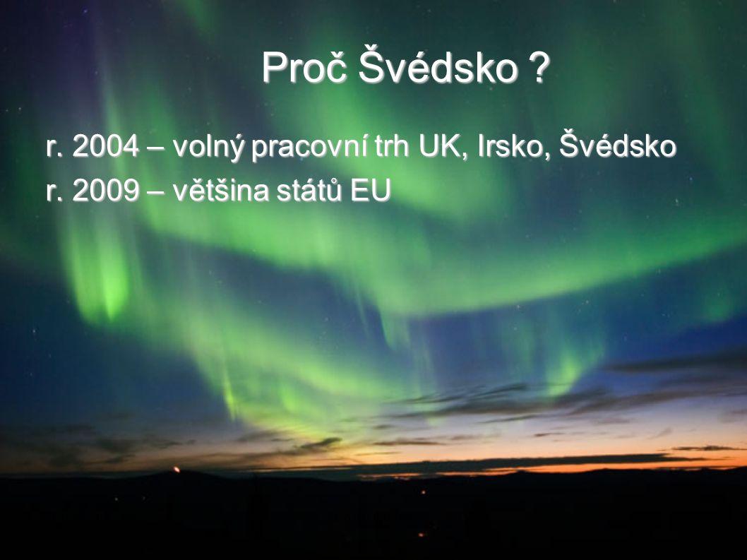 Proč Švédsko ? r. 2004 – volný pracovní trh UK, Irsko, Švédsko r. 2009 – většina států EU 2014-08-21Co dál doktoři