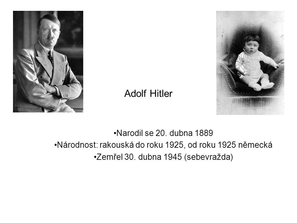 Adolf Hitler Narodil se 20.