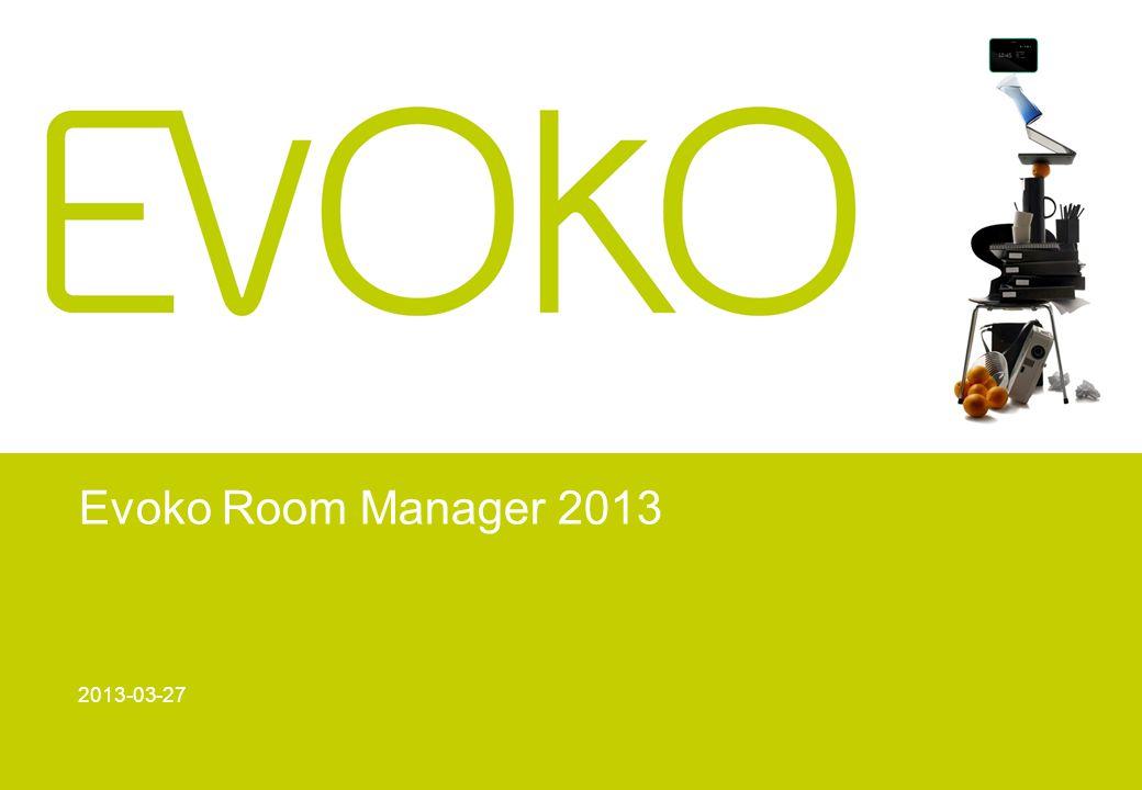 Evoko Room Manager 2013 2013-03-27