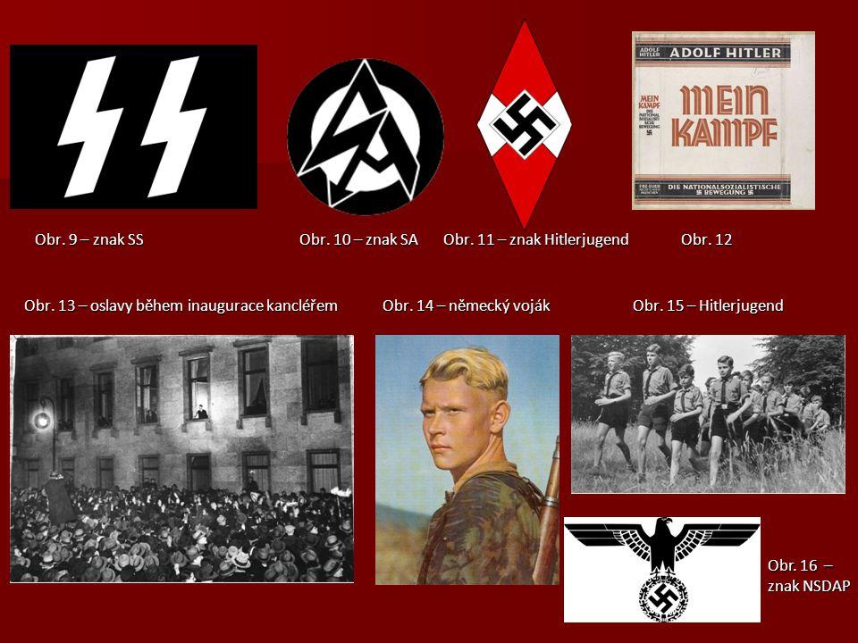 Obr.9 – znak SS Obr. 10 – znak SA Obr. 11 – znak Hitlerjugend Obr.