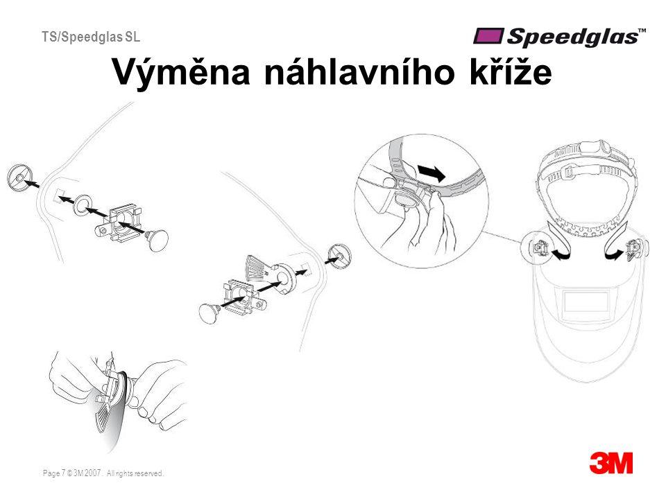 Page 7 © 3M 2007. All rights reserved. TS/Speedglas SL Výměna náhlavního kříže