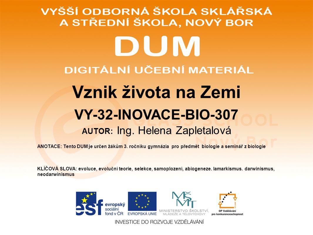 POUŽITÉ ZDROJE: www.glassschool.cz http://upload.wikimedia.org/wikipedia/commons/b/b6/Random_sampling_genetic_drift.gif HANČOVÁ, Hana.
