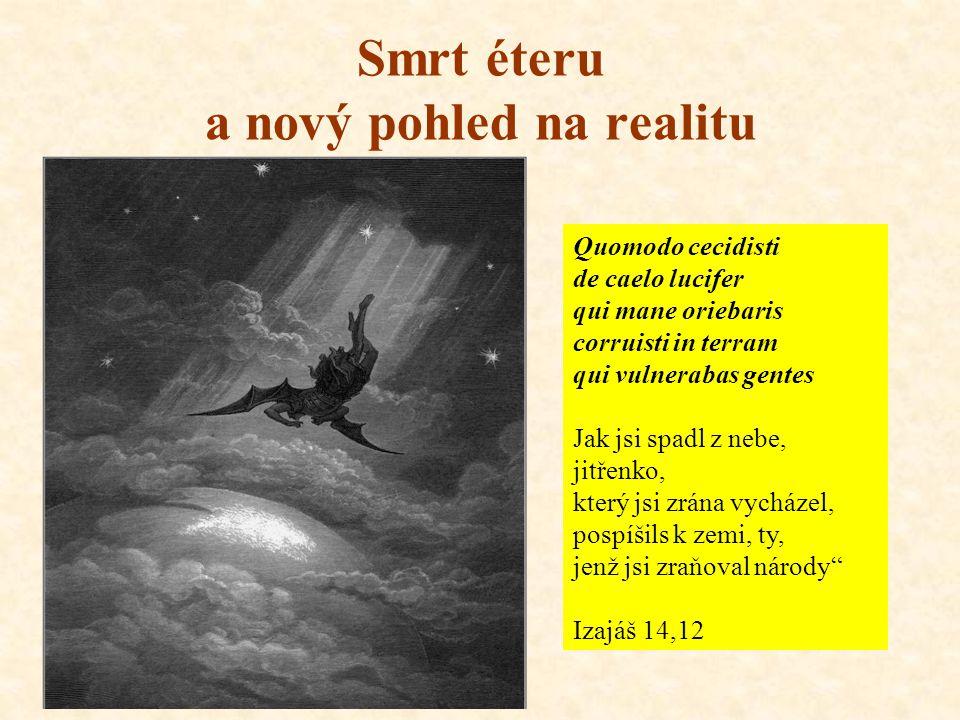 Smrt éteru a nový pohled na realitu Quomodo cecidisti de caelo lucifer qui mane oriebaris corruisti in terram qui vulnerabas gentes Jak jsi spadl z nebe, jitřenko, který jsi zrána vycházel, pospíšils k zemi, ty, jenž jsi zraňoval národy Izajáš 14,12