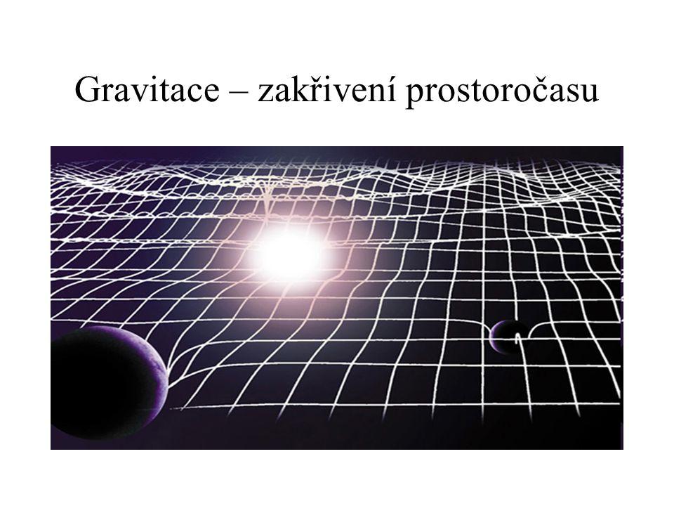 Gravitace – zakřivení prostoročasu