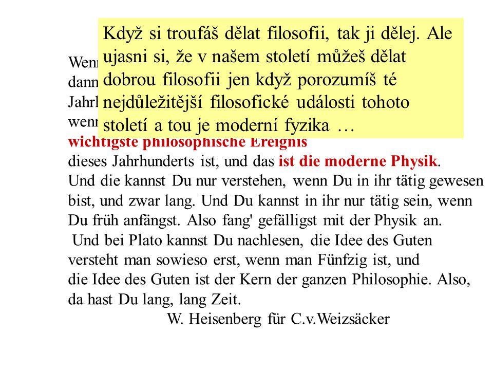 Wenn Du Dir zutraust, Philosophie zu machen, dann mache es nur.