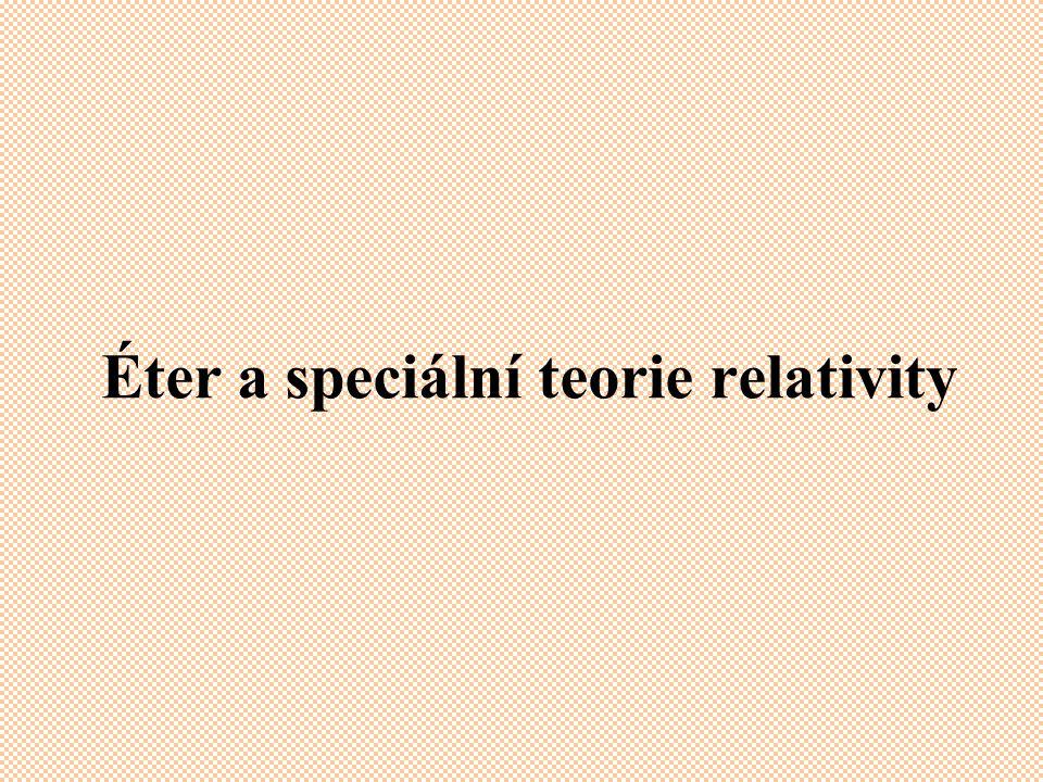 Éter a speciální teorie relativity