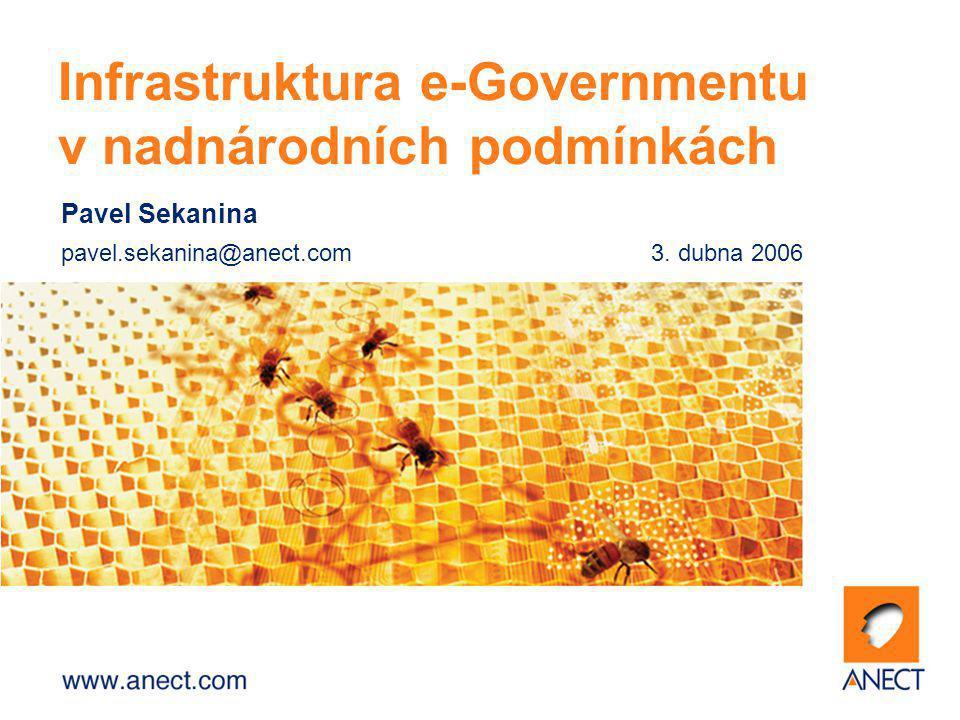 Pavel Sekanina pavel.sekanina@anect.com3. dubna 2006 Infrastruktura e-Governmentu v nadnárodních podmínkách