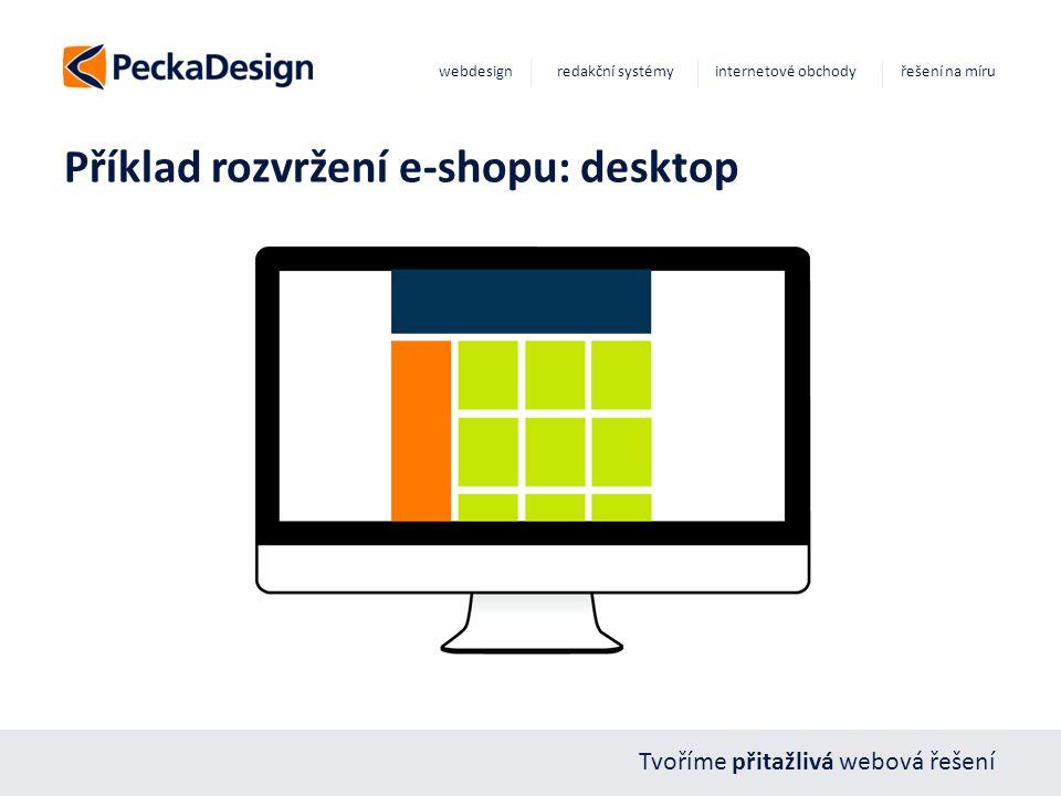 Tvoříme přitažlivá webová řešení webdesign redakční systémy internetové obchody řešení na míru Příklad rozvržení e-shopu: desktop