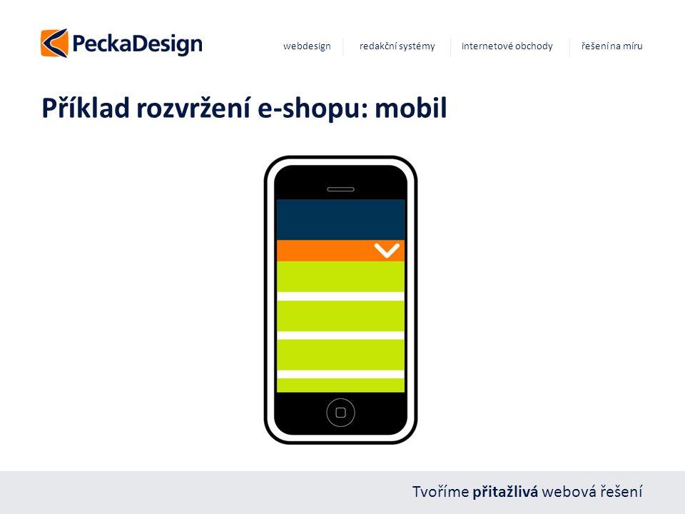 Tvoříme přitažlivá webová řešení webdesign redakční systémy internetové obchody řešení na míru Příklad rozvržení e-shopu: mobil