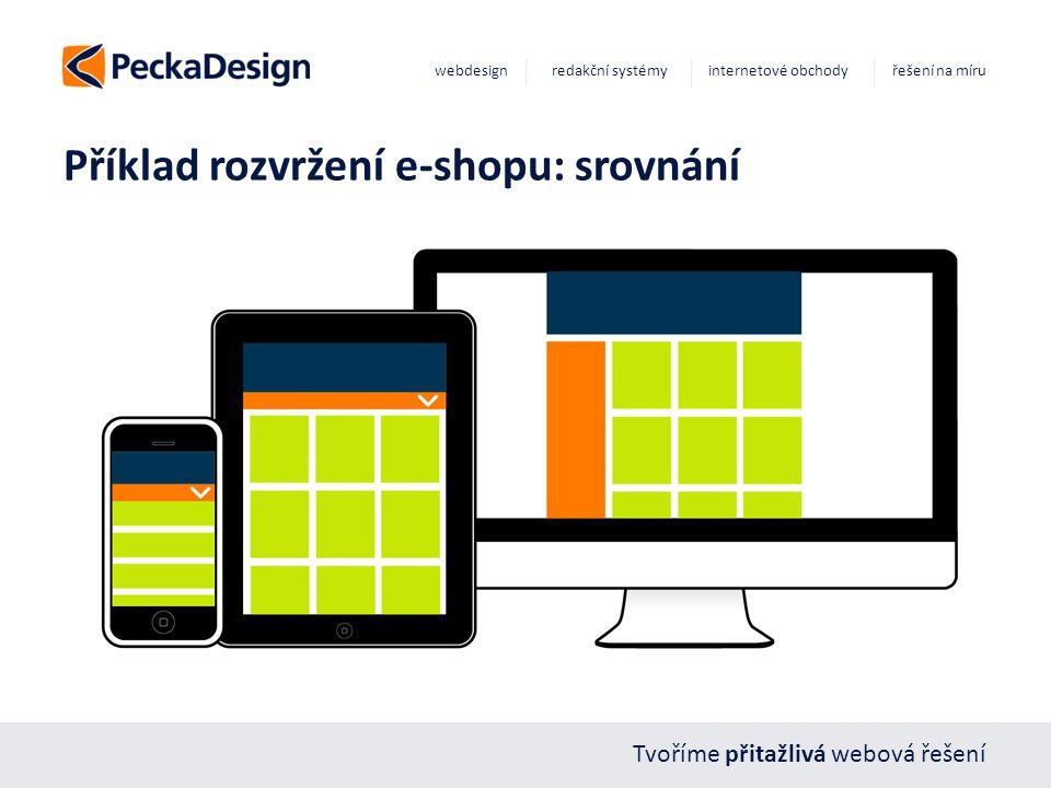 Tvoříme přitažlivá webová řešení webdesign redakční systémy internetové obchody řešení na míru Příklad rozvržení e-shopu: srovnání
