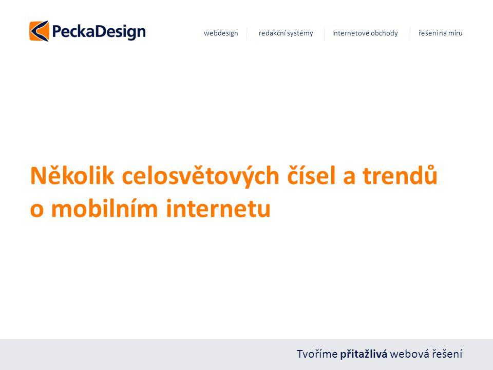 Tvoříme přitažlivá webová řešení webdesign redakční systémy internetové obchody řešení na míru Několik celosvětových čísel a trendů o mobilním internetu
