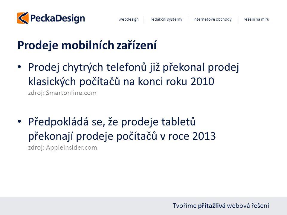Tvoříme přitažlivá webová řešení webdesign redakční systémy internetové obchody řešení na míru Prodeje mobilních zařízení Prodej chytrých telefonů již