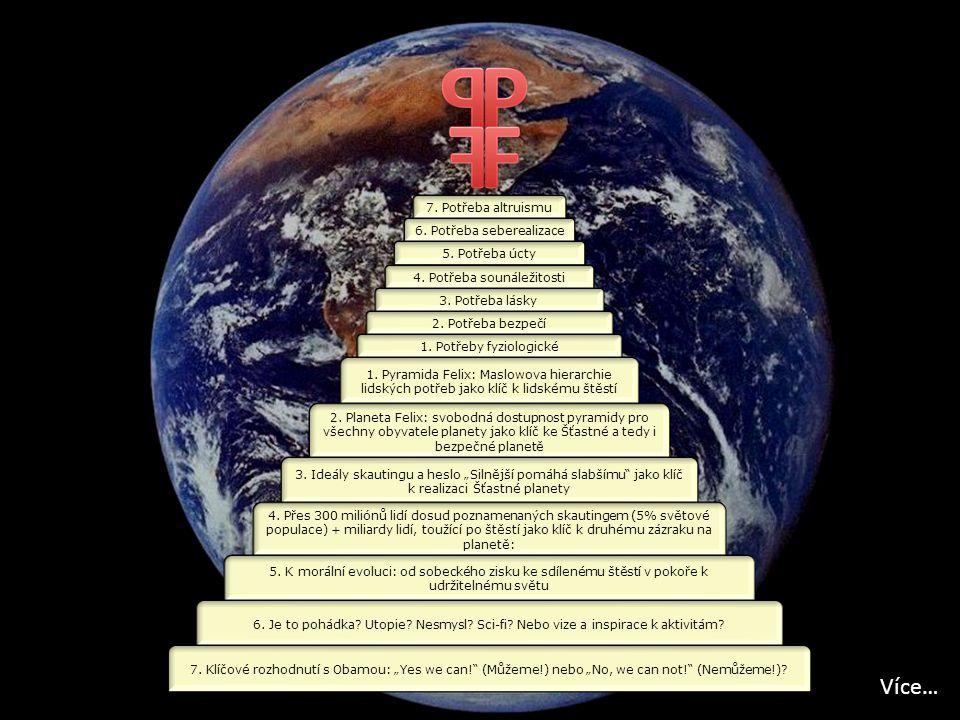 7.Potřeba altruismu 6. Potřeba seberealizace 5. Potřeba úcty 4.