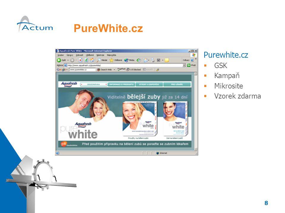 8 PureWhite.cz Purewhite.cz  GSK  Kampaň  Mikrosite  Vzorek zdarma
