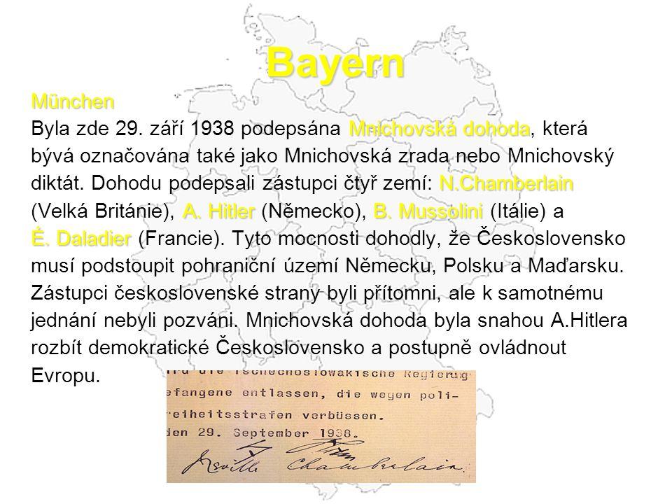 Bayern München Mnichovská dohoda Byla zde 29.