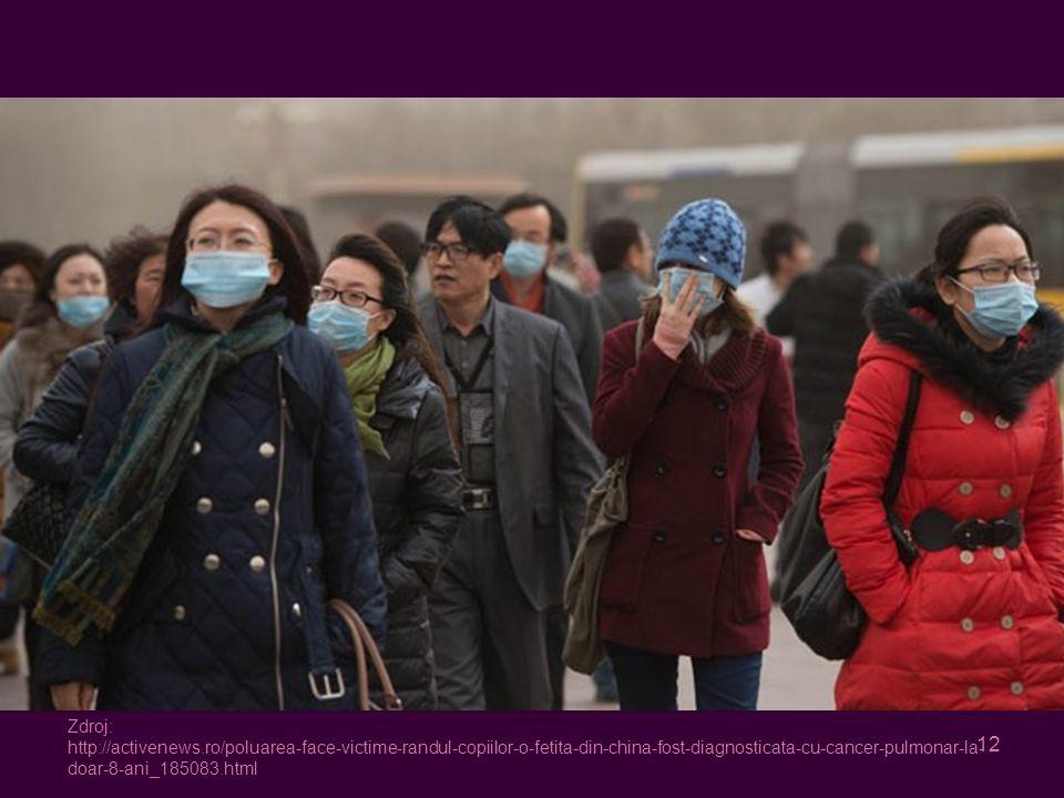 12 Zdroj: http://activenews.ro/poluarea-face-victime-randul-copiilor-o-fetita-din-china-fost-diagnosticata-cu-cancer-pulmonar-la- doar-8-ani_185083.html