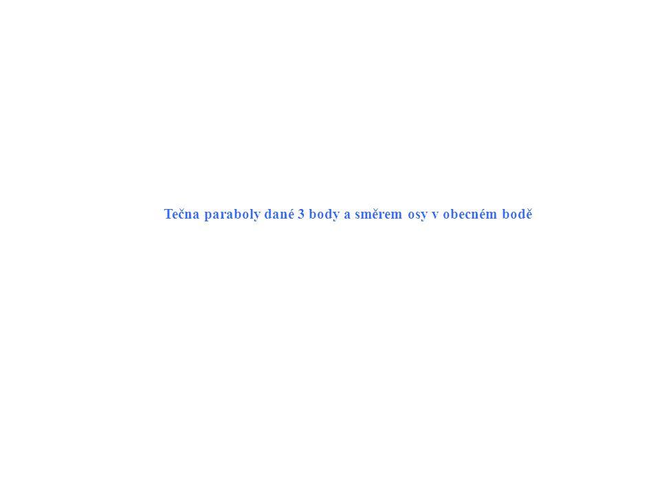 Tečny paraboly ne v krajních bodech.p( A, B, C, s o // y ).