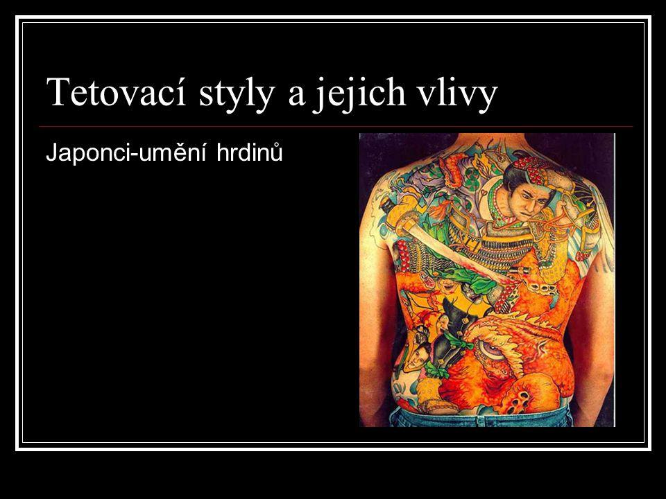 Tetovací styly a jejich vlivy Japonci-umění hrdinů