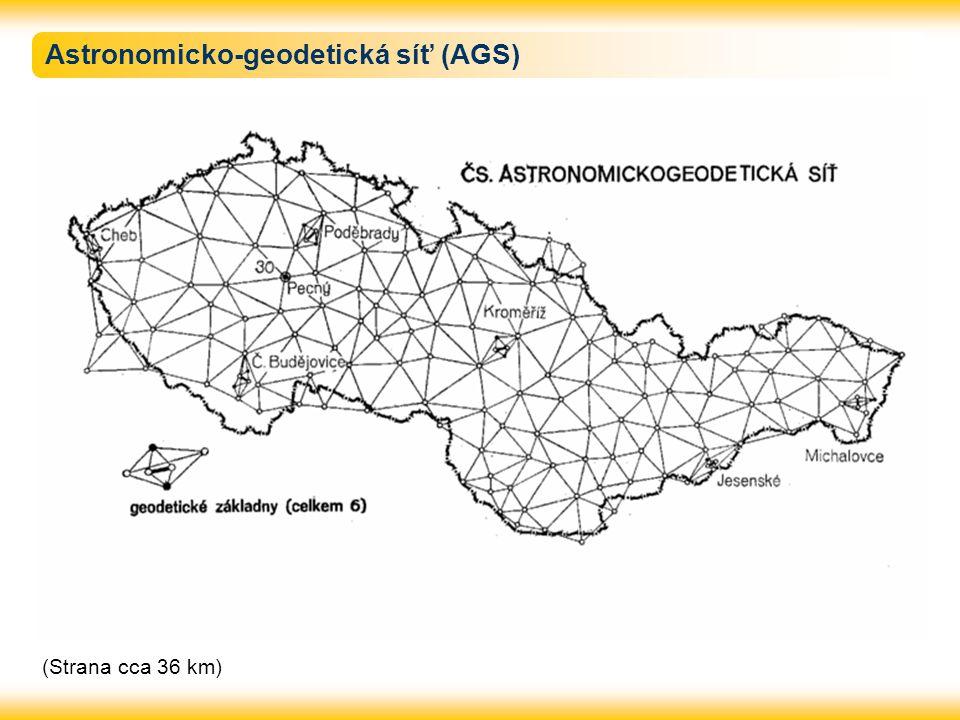 Astronomicko-geodetická síť (AGS) (Strana cca 36 km)