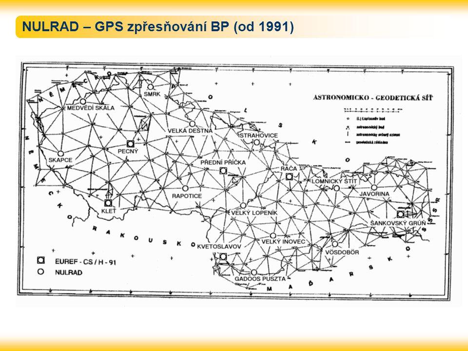 NULRAD – GPS zpřesňování BP (od 1991)