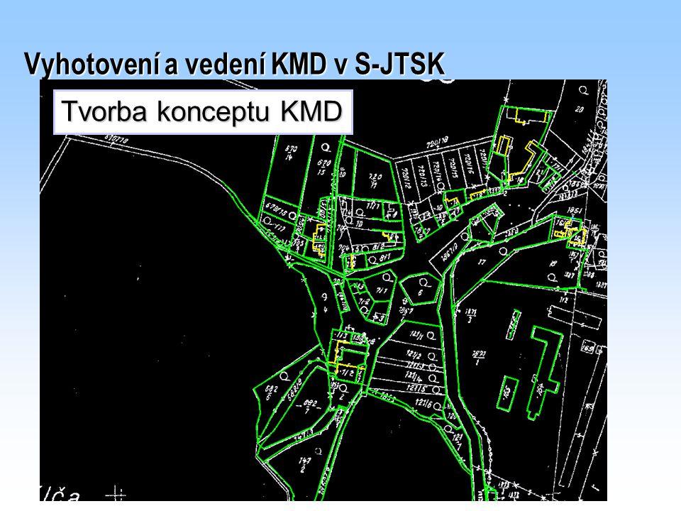 Vyhotovení a vedení KMD v S-JTSK Tvorba konceptu KMD