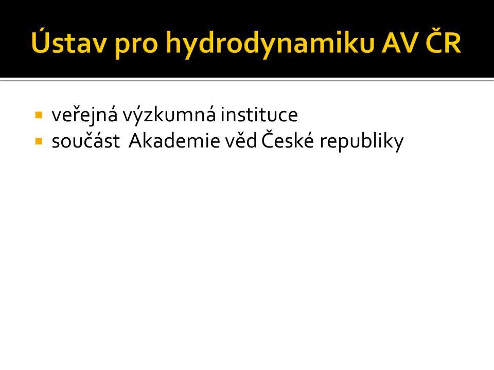  veřejná výzkumná instituce  součást Akademie věd České republiky