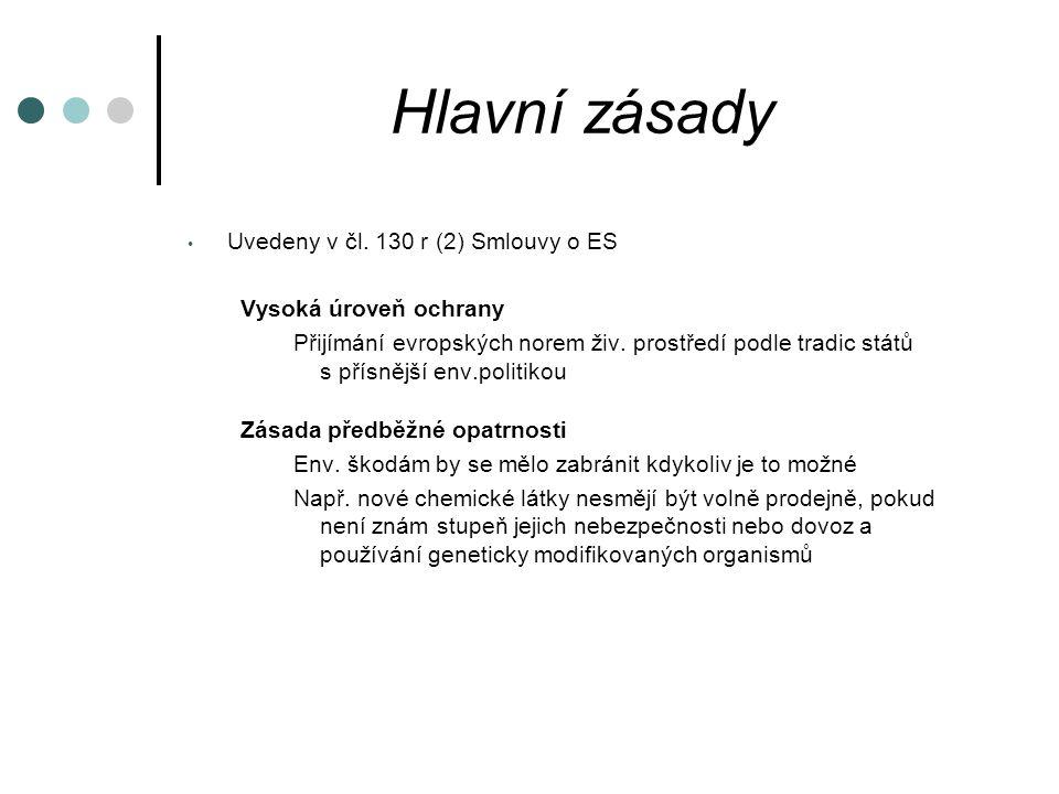 Hlavní zásady Uvedeny v čl.