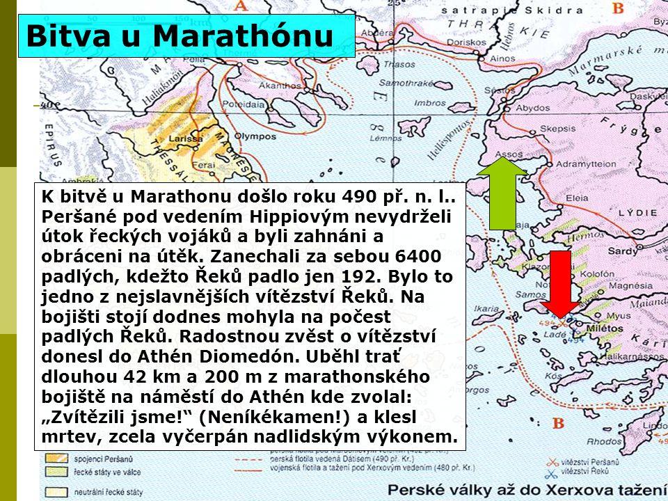 K bitvě u Marathonu došlo roku 490 př.n. l..