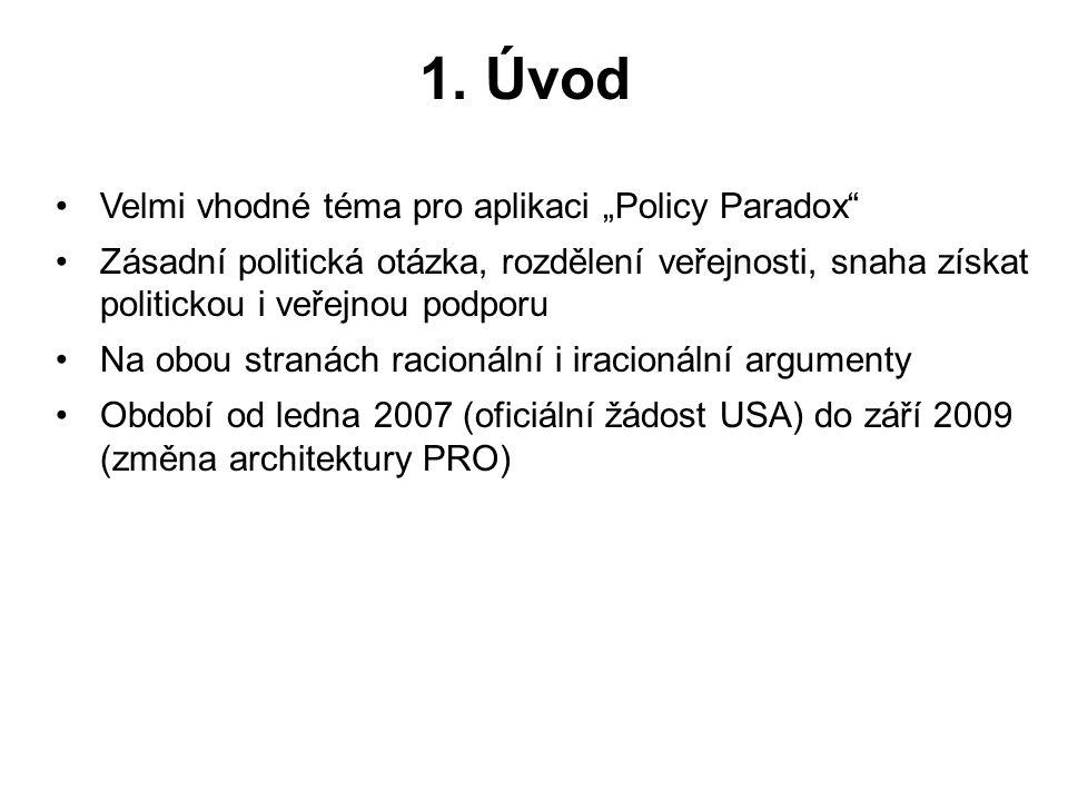 """1. Úvod Velmi vhodné téma pro aplikaci """"Policy Paradox"""" Zásadní politická otázka, rozdělení veřejnosti, snaha získat politickou i veřejnou podporu Na"""